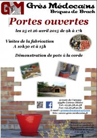Portes Ouvertes Grès Médocains le 25 et 26 Avril 2015 à Listrac Médoc Fb179510