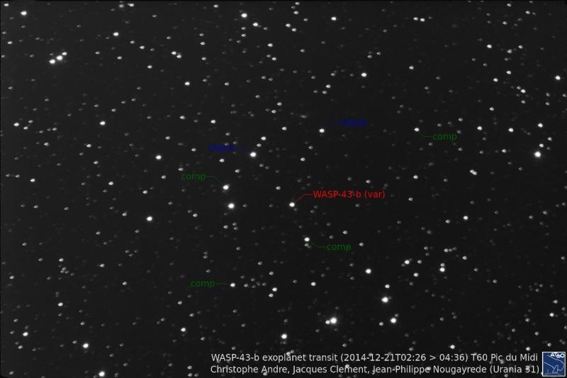 Transit de l'exoplanète WASP-43-b au T60, Pic du Midi Integr10