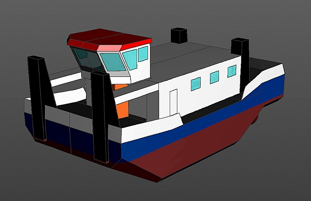 Bau eines Schubschiffes in RC 01_sch10