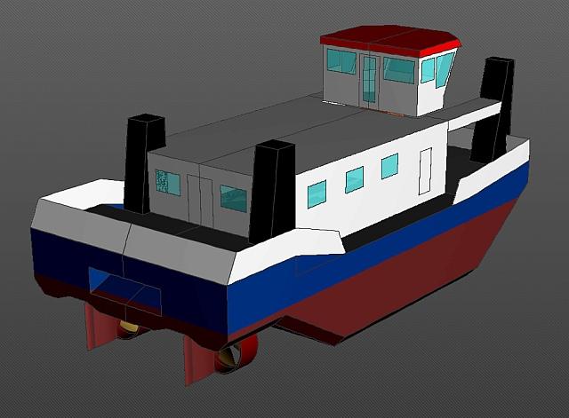 Bau eines Schubschiffes in RC 02_sch10