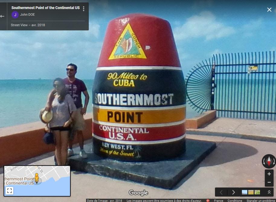 Borne sud des USA, Key West, Floride 2018-019