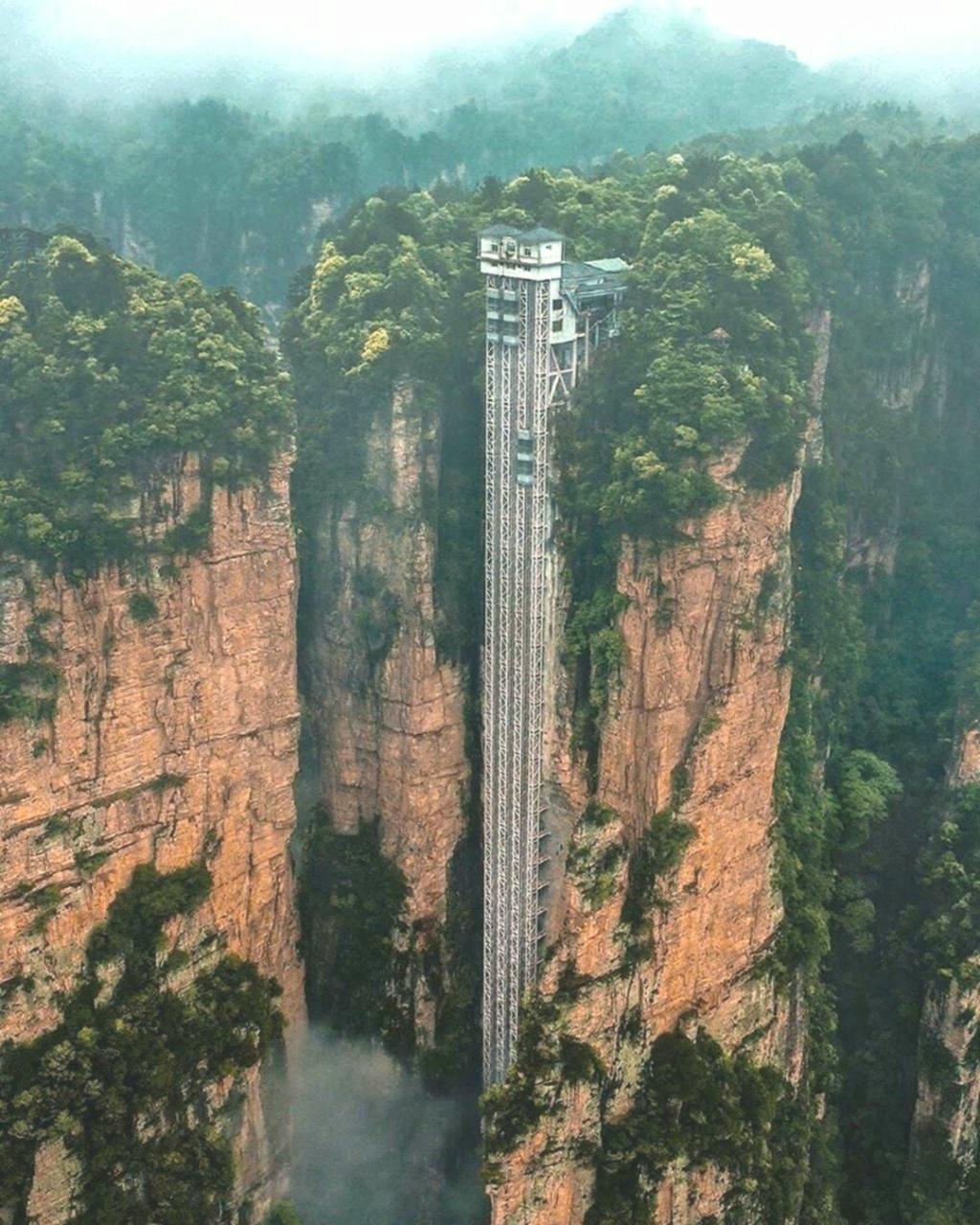 l'ascenseur extérieur le plus élevé du monde - Chine 269d3f10