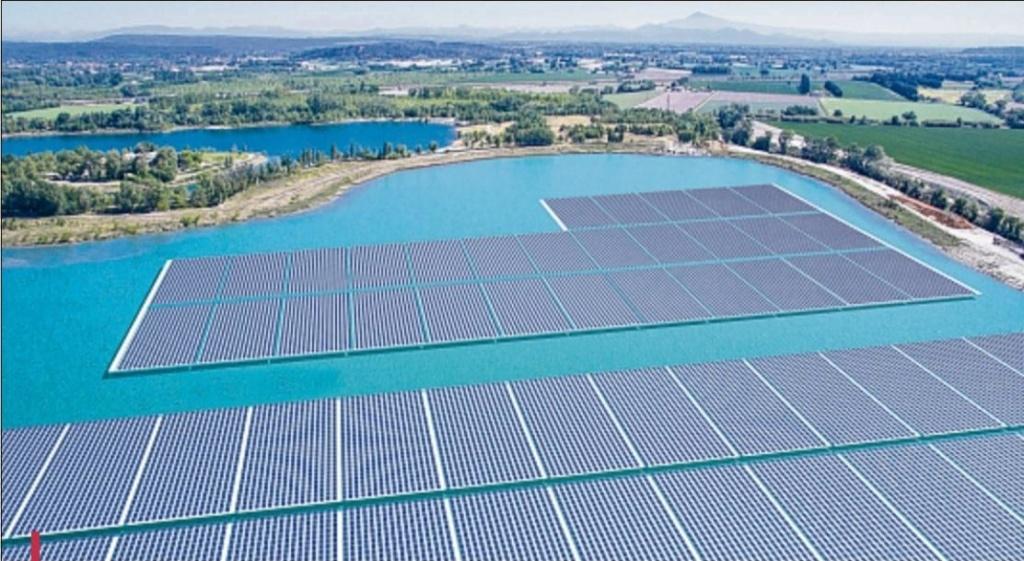 La première centrale solaire flottante de France - Piolenc - Vaucluse 7df5d810