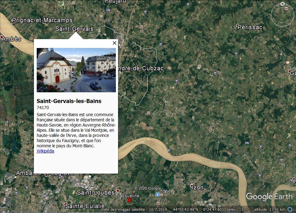 Une bavure dans G.E.: Saint Gervais, en Gironde, France. Captur45