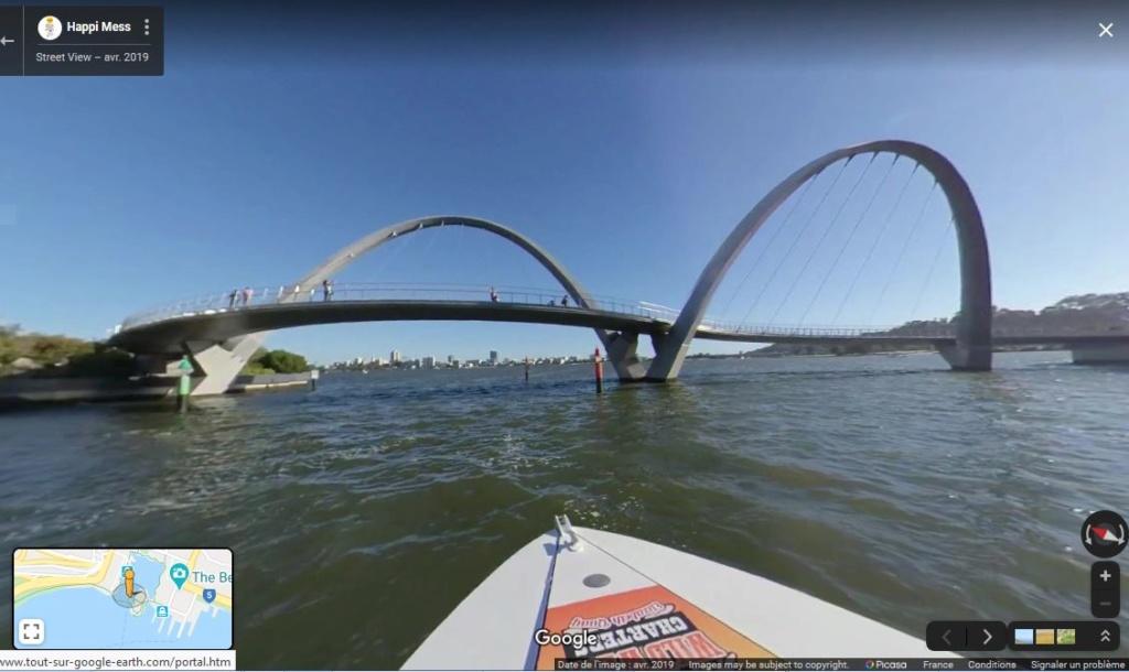 Le Queen Elizabeth Quay Bridge - Perth - Australie. Captur76