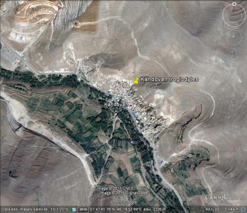 Les habitations troglodytes de Kandovan- Iran Ge_kan10