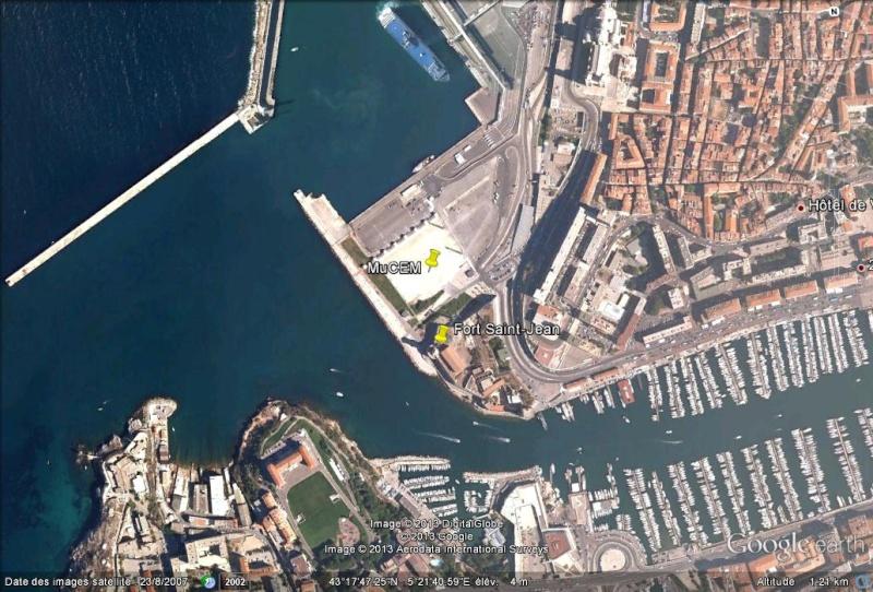 [Désormais visible sur Google-Earth] Le MuCEM - Marseille - France Ge_muc10