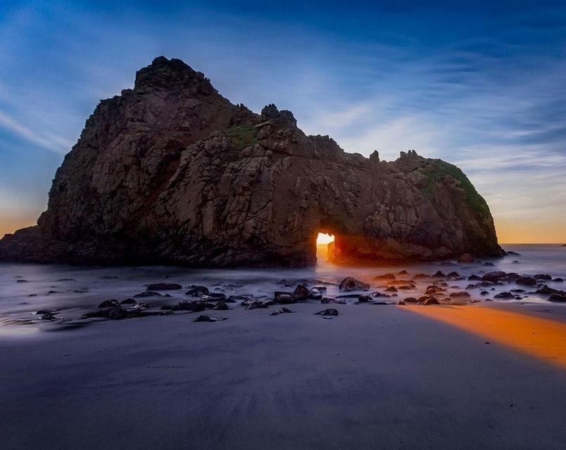 Le soleil a Pfeiffer Beach - Californie Image_20