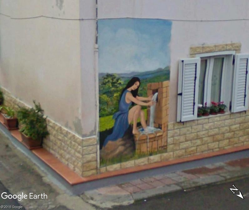 STREET VIEW : Peintures murales de l'île de Sardaigne - Italie. Romana10