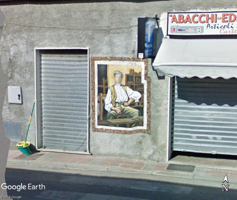 STREET VIEW : Peintures murales de l'île de Sardaigne - Italie. Romana11