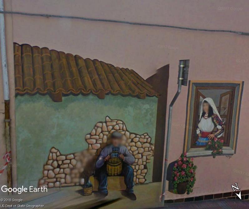 STREET VIEW : Peintures murales de l'île de Sardaigne - Italie. Romana13
