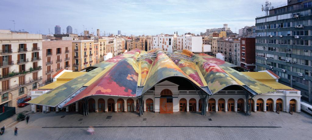 Le toit du  Marché Saint Catherine - Barcelone Santa-10