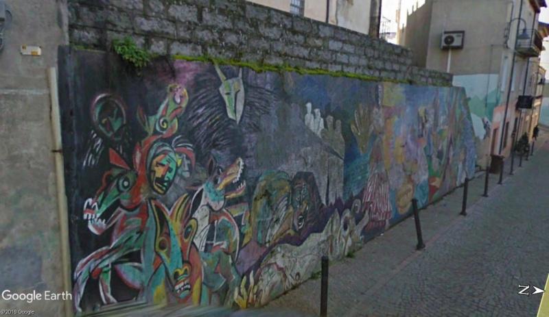 STREET VIEW : Peintures murales de l'île de Sardaigne - Italie. Sar_1010
