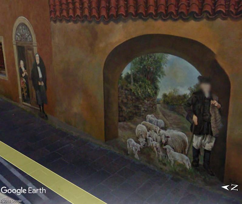STREET VIEW : Peintures murales de l'île de Sardaigne - Italie. Sar_110