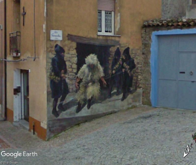 STREET VIEW : Peintures murales de l'île de Sardaigne - Italie. Sar_1110