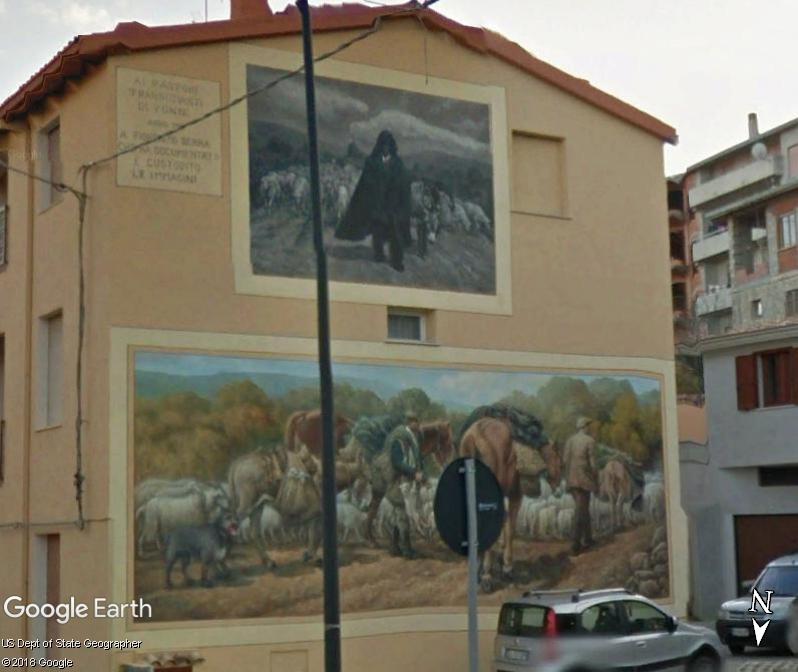 STREET VIEW : Peintures murales de l'île de Sardaigne - Italie. Sar_1310