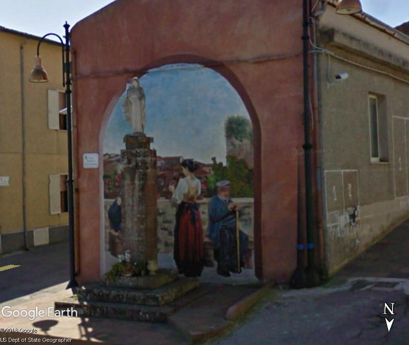 STREET VIEW : Peintures murales de l'île de Sardaigne - Italie. Sar_210