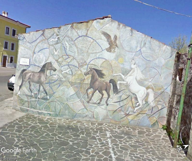 STREET VIEW : Peintures murales de l'île de Sardaigne - Italie. Sar_310