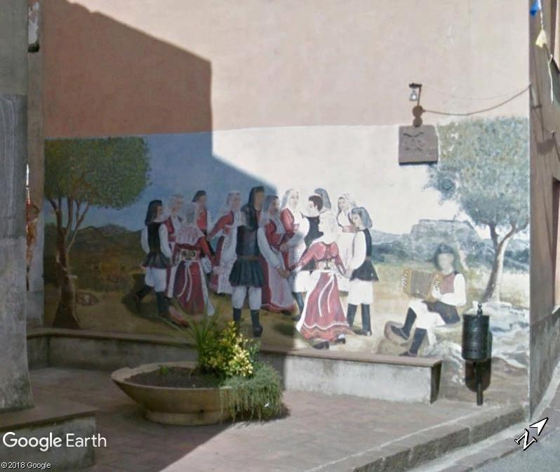 STREET VIEW : Peintures murales de l'île de Sardaigne - Italie. Sar_410
