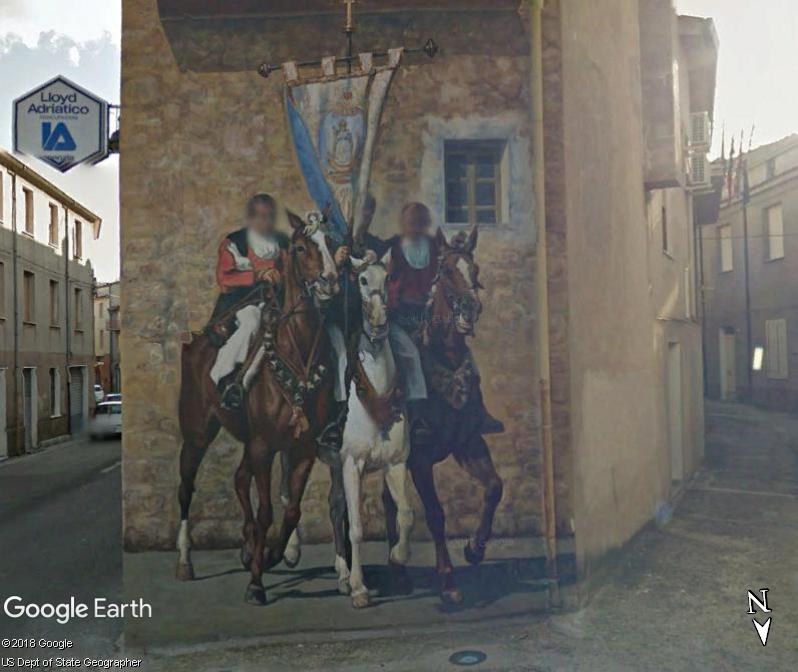 STREET VIEW : Peintures murales de l'île de Sardaigne - Italie. Sar_710