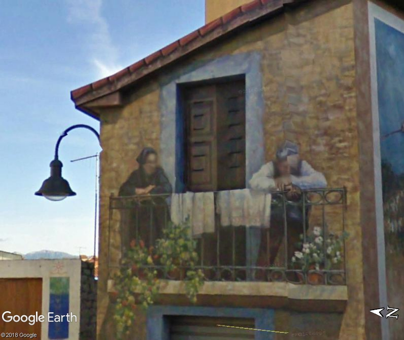 STREET VIEW : Peintures murales de l'île de Sardaigne - Italie. Sar_810