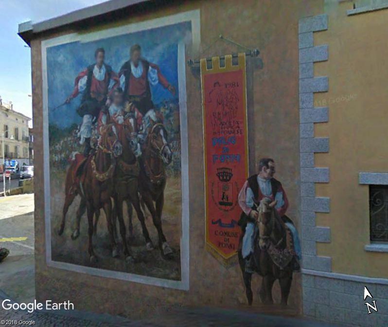 STREET VIEW : Peintures murales de l'île de Sardaigne - Italie. Sar_910