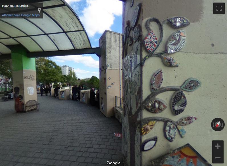 Le Street Art du Parc de Belleville - Paris Screen10