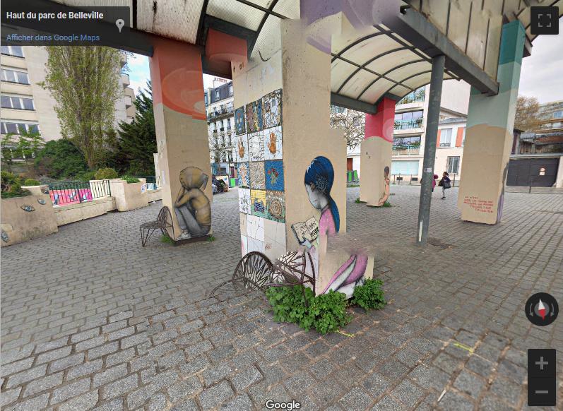 Le Street Art du Parc de Belleville - Paris Screen11