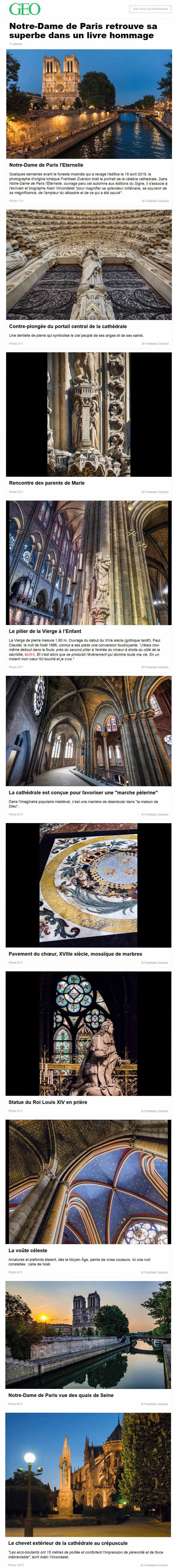 Sauvegarde virtuelle, visuelle  & mémorielle de la  Cathédrale Notre Dame de PARIS Screen23