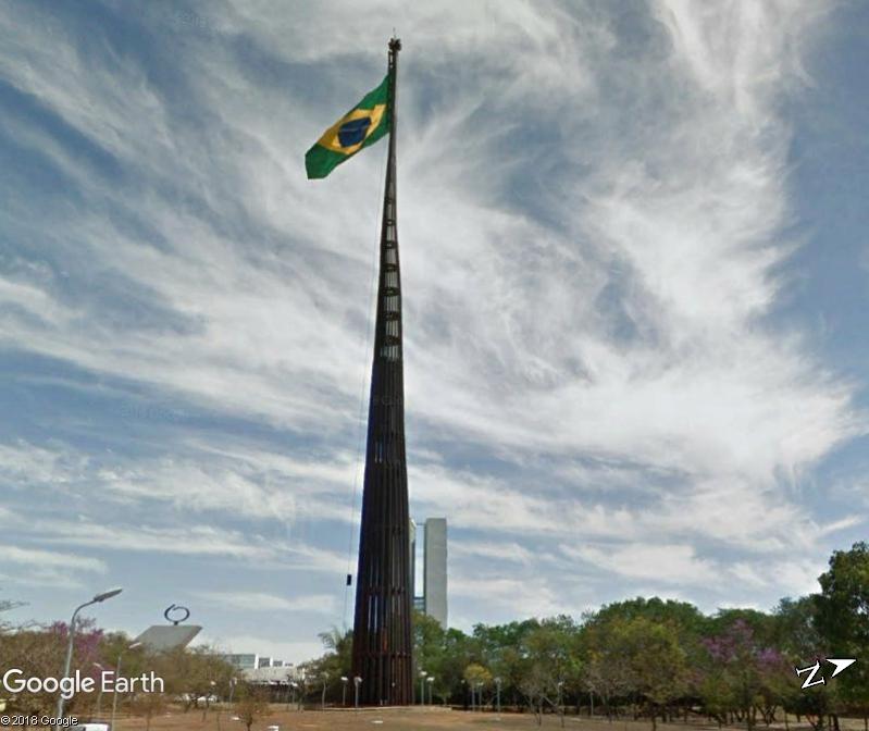 Drapeau brésilien à Brasilia au Brésil Www39