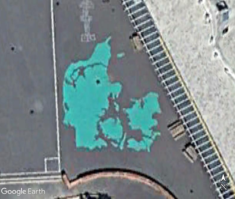 La carte du Danemark dans la cour d'une école de Copenhague Www68
