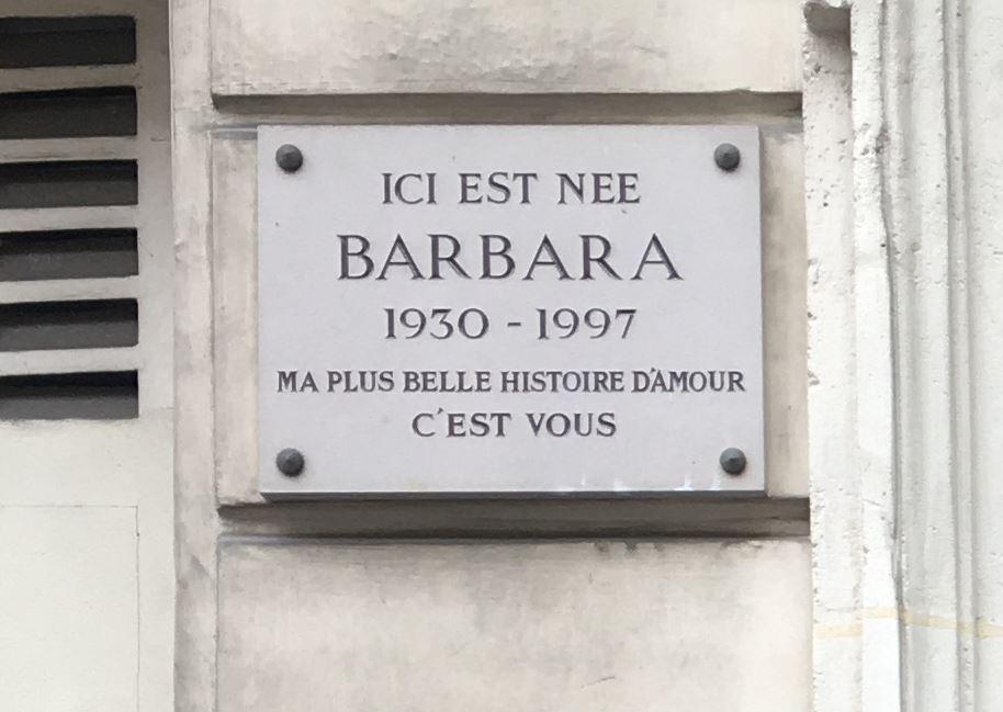 6 rue Brochant à Paris, lieu de naissance de Barbara Z112