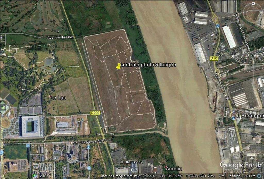 Bientôt visible sur GE : Bordeaux: la plus grande centrale photovoltaÏque urbaine d'Europe Z31