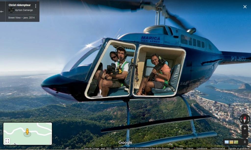 Photo en vol d'un helicoptère - Rio de Janeiro - Bresil Z3510