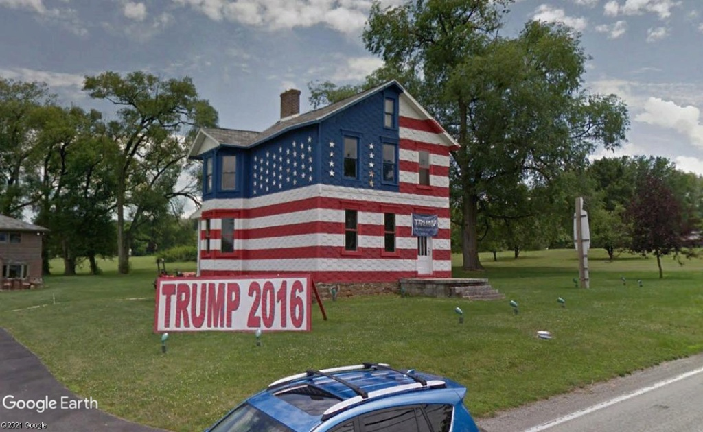 """La maison """"Trump"""" pendant les élections de 2016!- Latrobe - Pennsylvanie Z3511"""