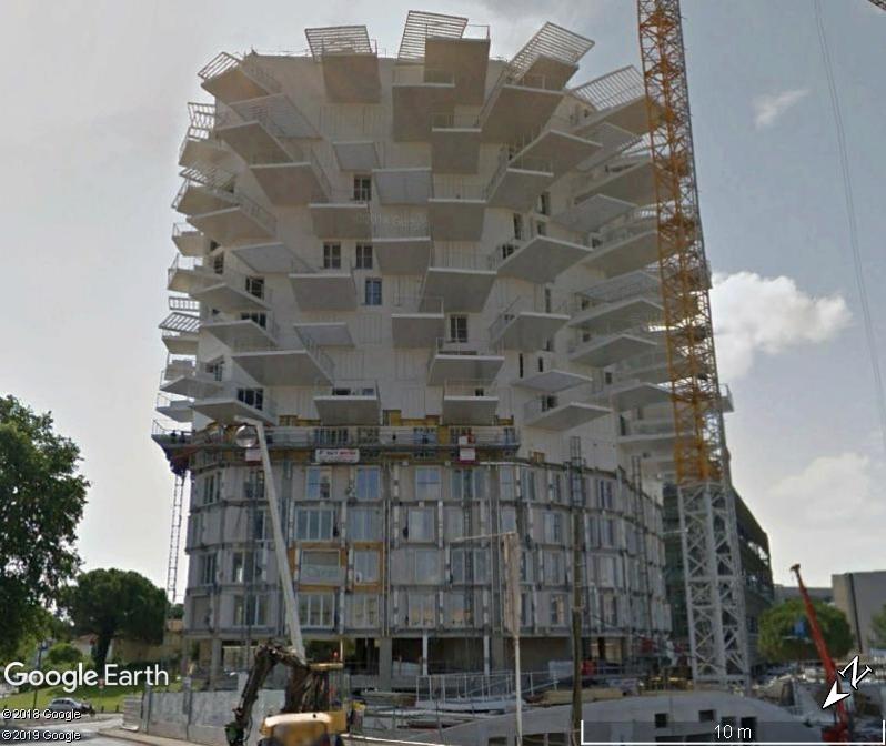 """(Bientôt visible sur G.E.) L'immeuble """"L'arbre Blanc' à Montpellier Zzz147"""