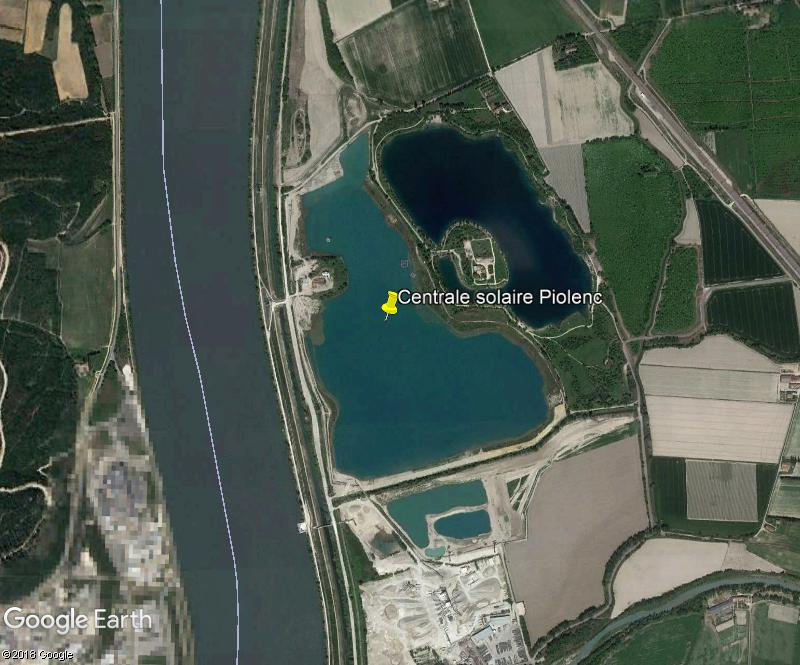 La première centrale solaire flottante de France - Piolenc - Vaucluse Zzz198