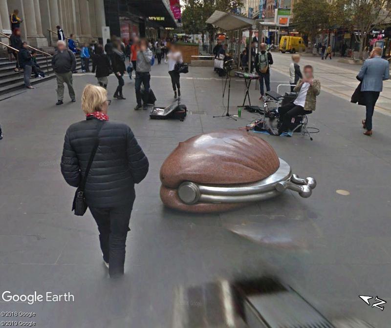 STREET VIEW : Porte monnaie géant Ville de Melbourne Australie Zzz65