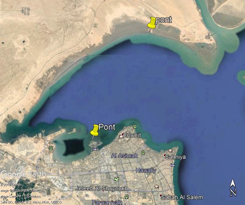 (Bientôt visible sur GE) Un pont sur la mer, de 36 km, à Koweït City. Zzzz11