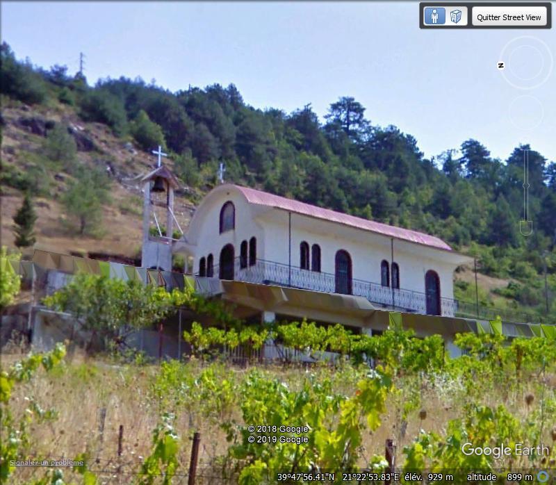 Petite reproduction d'un monastère en Grèce. Zzzz214
