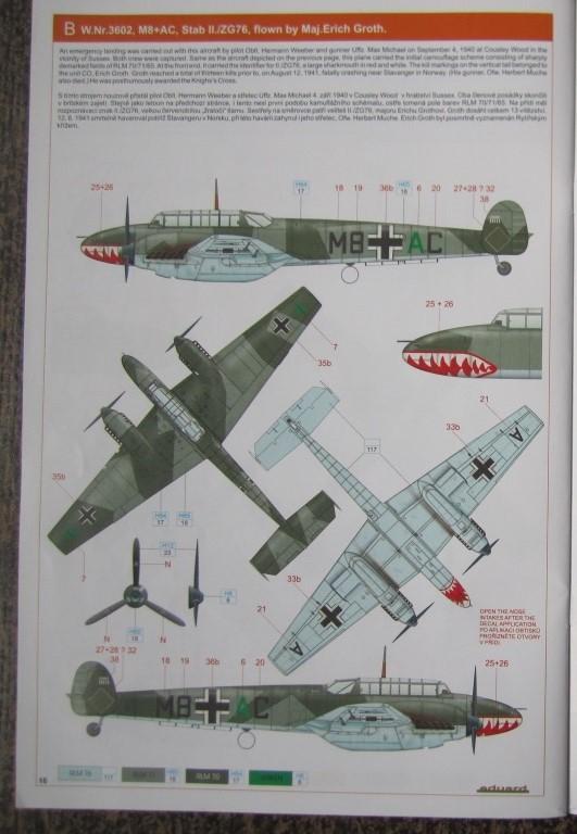 Messerschmitt BF-110 C 1/48 Eduard Rbl94310