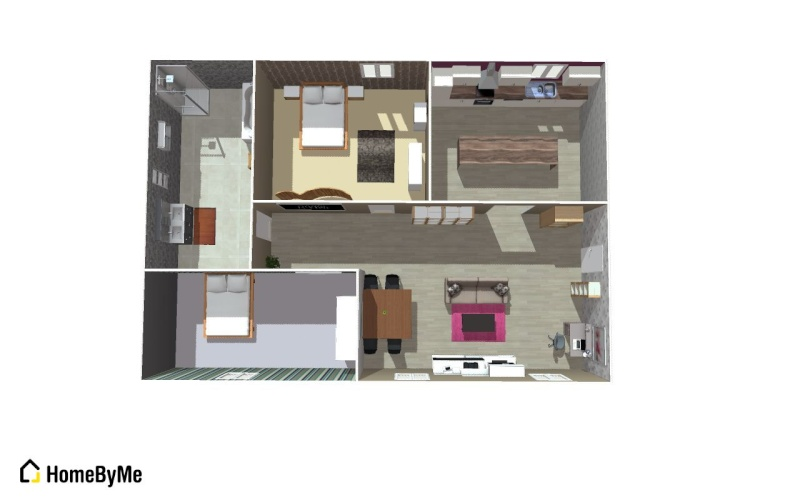 Plan de l'appartement en3D Maison10