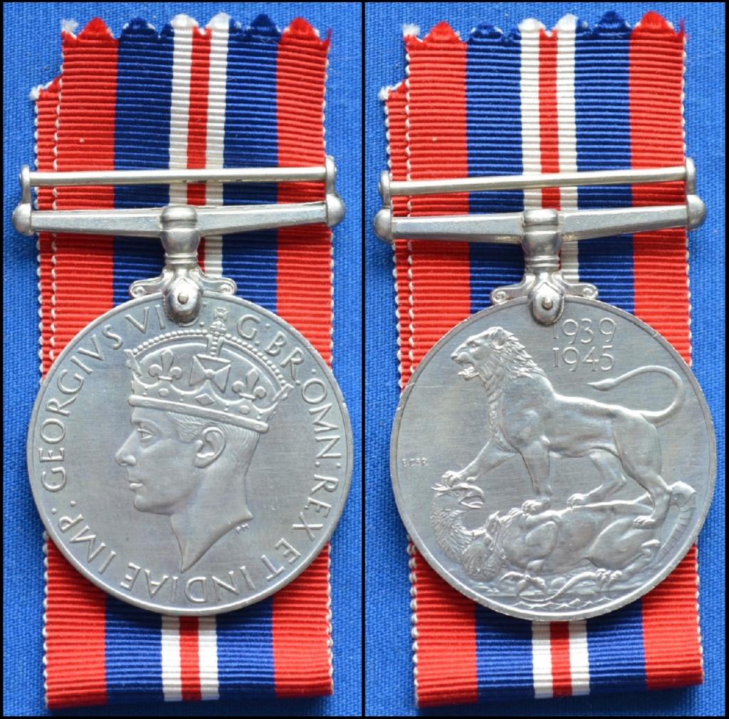 """Royaume-Uni : groupe de 4 médailles dont """"The Burma Star"""" 12-12_75"""