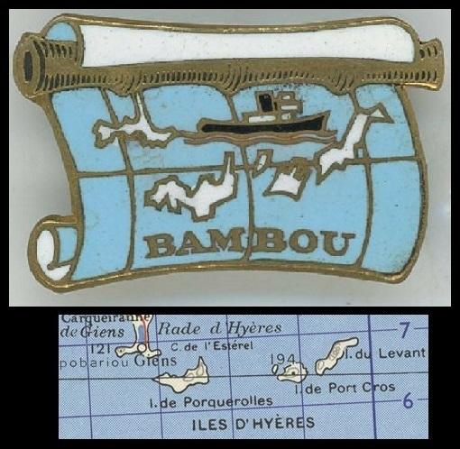 Carte d'îles et insigne Le_bam11