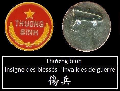 Việt Nam : Insigne des blessés - invalides de guerre Theng_10