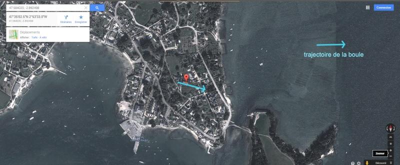 2004: le14 /06 à environ 02h00 - boule bleue très lumineuse -  Ovnis à Larmor-Baden - Morbihan (dép.56) Positi10