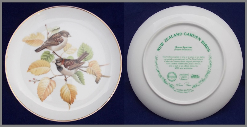 Crown Lynn bird plates Collectors Treasury  Dscn5727