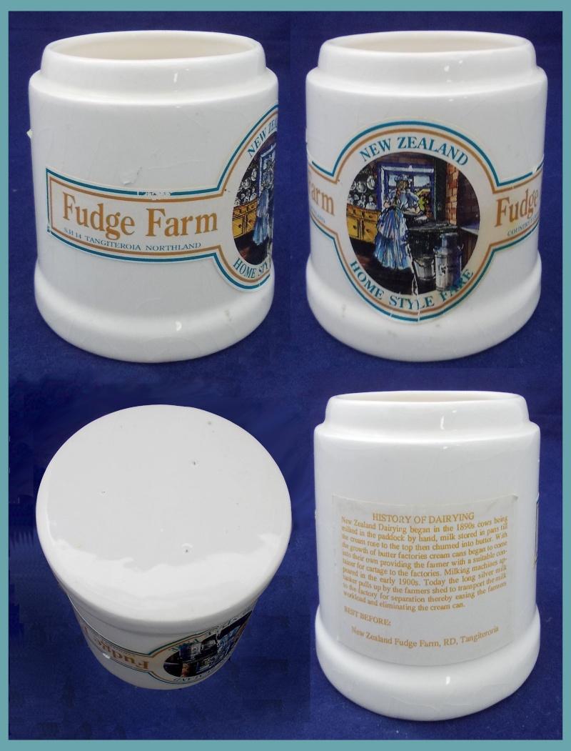 Fudge Farm Northland's white pot. Who made the pot? Dscn6022