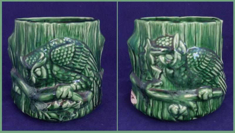 Aquila green owl planter for gallery. Dscn6213