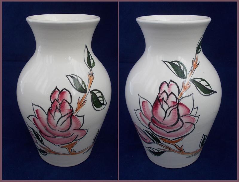 Another unmarked hand potted flower Steenstra vase. Dscn6514